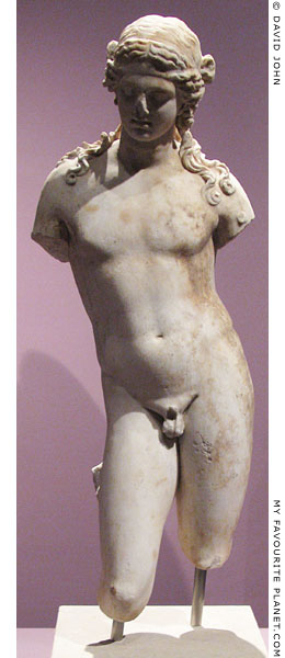 Marble statue of a youthful Dionysus at My Favourite Planet