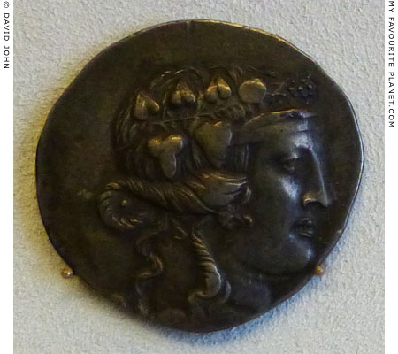 A silver tetradrachm of Maroneia, Thrace with the head of Dionysus at My Favourite Planet