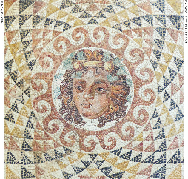 Detail of the head mosaic from Corinth at My Favourite Planet