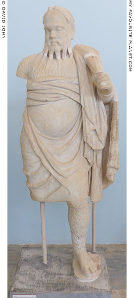 Marble statue of a Papposilenos actor from the Stoibadeion, Delos at My Favourite Planet