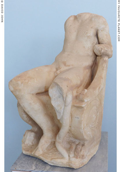 Statue of enthroned Dionysus, from the temple of Dionysus, Delos, Greece at My Favourite Planet