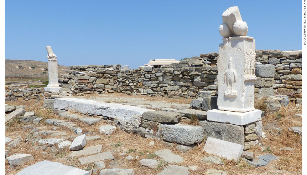 The temple of Dionysus, Delos, Greece at My Favourite Planet