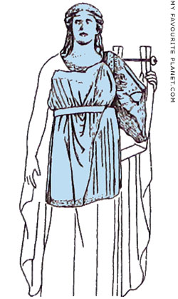 Reconstruction drawing of the Dionysos relief from Delphi at My Favourite Planet