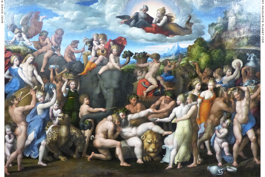 The Triumph of Bacchus, oil painting by Garofalo at My Favourite Planet