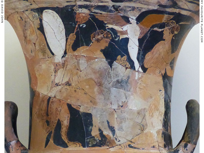 Dionysus riding a panther on a krater from Phagres at My Favourite Planet