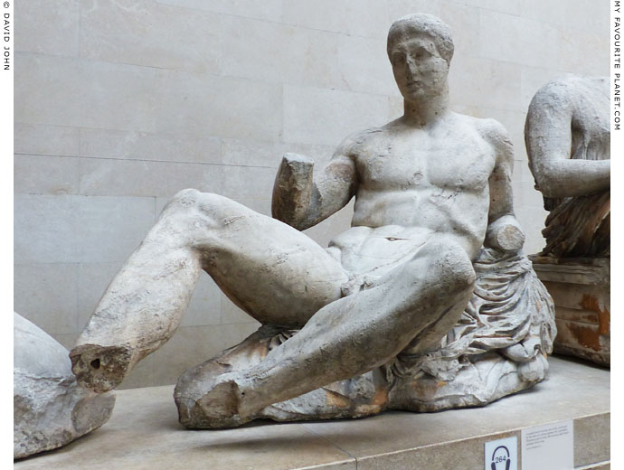 A statue of Dionysus from the east pediment of the Parthenon at My Favourite Planet