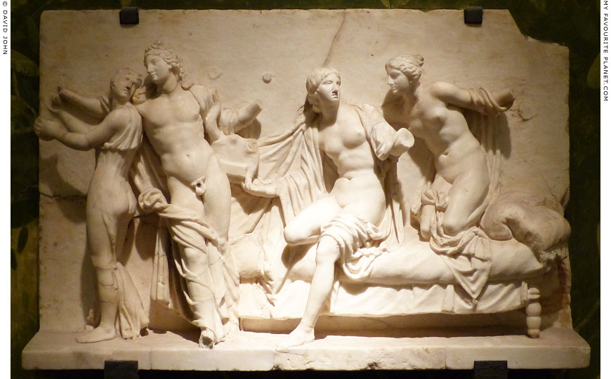 The so-called Alcibiades among the hetairai relief in Naples at My Favourite Planet