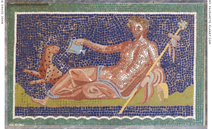 Mosaic depicting Dionysus with his panther from Herculaneum at My Favourite Planet