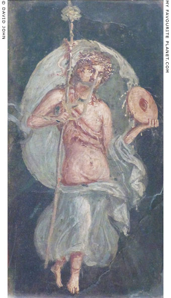 A fresco painting of a dancing Maenad from Herculaneum at My Favourite Planet