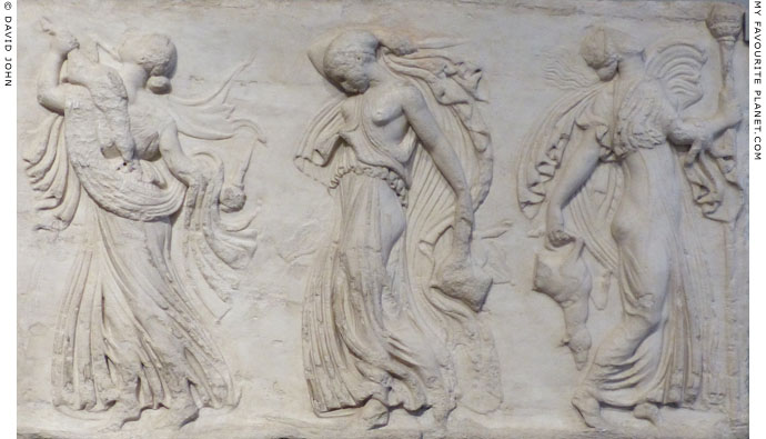 Relief of dancing maenads at My Favourite Planet