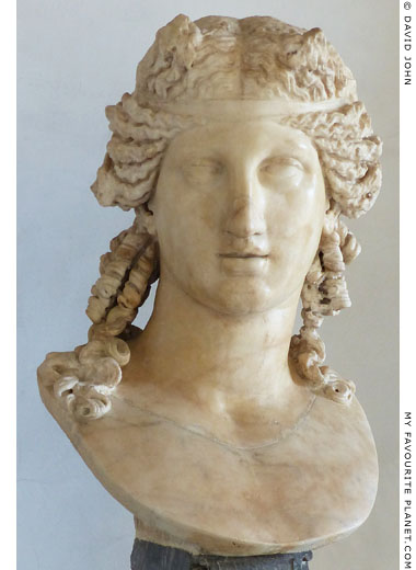 Marble bust of a youthful Dionysus, Capitoline Museums, Rome at My Favourite Planet