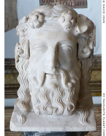 Marble double herm of bearded Dionysus at My Favourite Planet