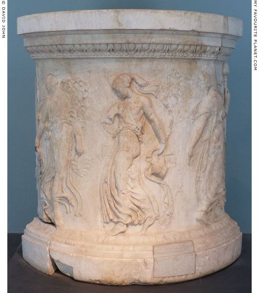 Marble base with reliefs of dancing maenads at My Favourite Planet