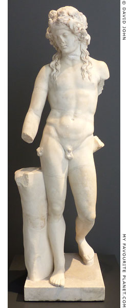 Marble statue of Dionysus in the Terme museum, Rome at My Favourite Planet