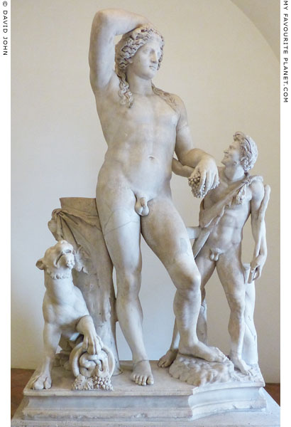 Marble statue of Dionysus, a satyr and a panther, Palazzo Altemps, Rome at My Favourite Planet
