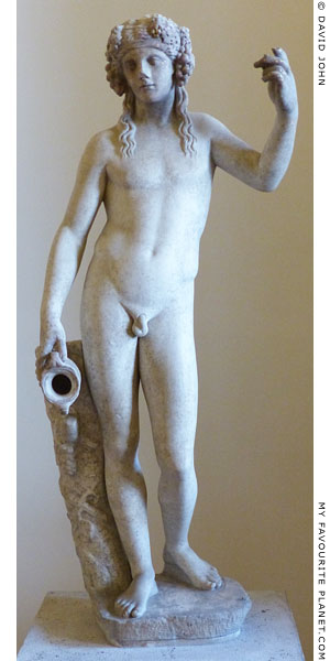 Marble statue of Dionysus from the Janciculum sanctuary, Rome at My Favourite Planet
