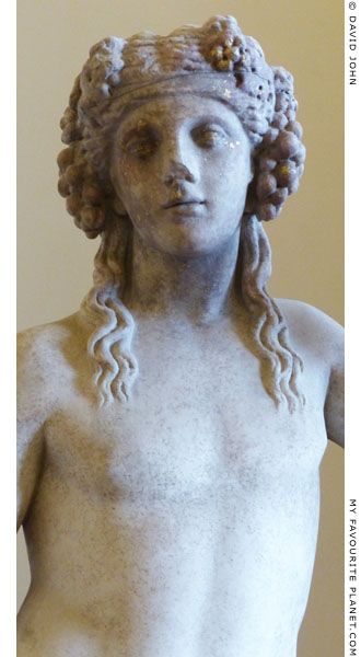 Detail of the Dionysus statue from the Janciculum at My Favourite Planet