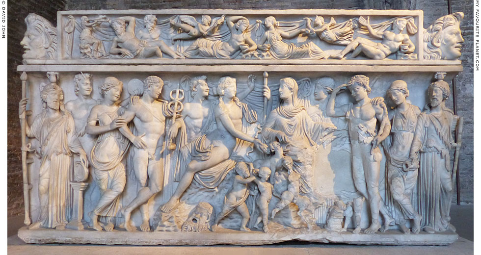 Relief of Dionysus and Ariadne on a sarcophagus at My Favourite Planet