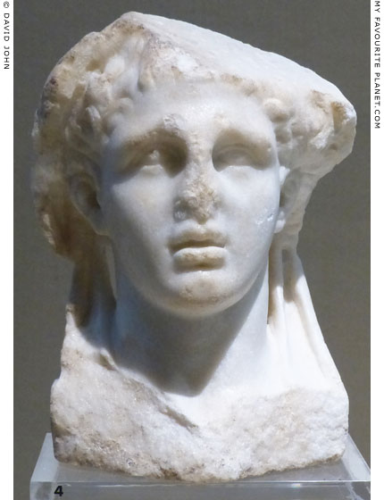 Marble head of a herm of drunken Dionysus from Syracuse at My Favourite Planet