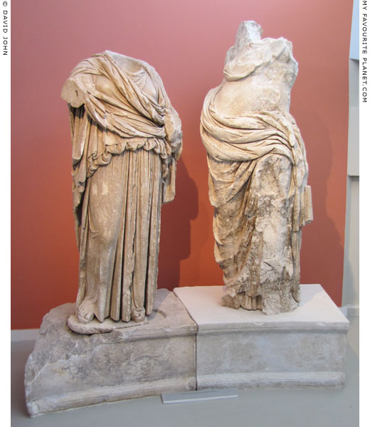 Statues of Dionysus and a muse from Thasos at My Favourite Planet