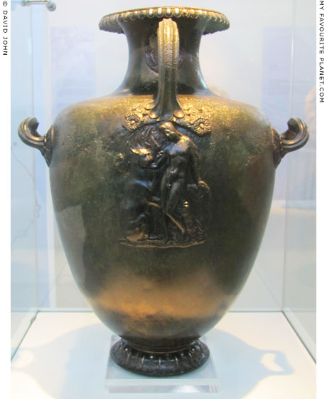 Bronze hydria with a relief of Dionysus and a panther at My Favourite Planet
