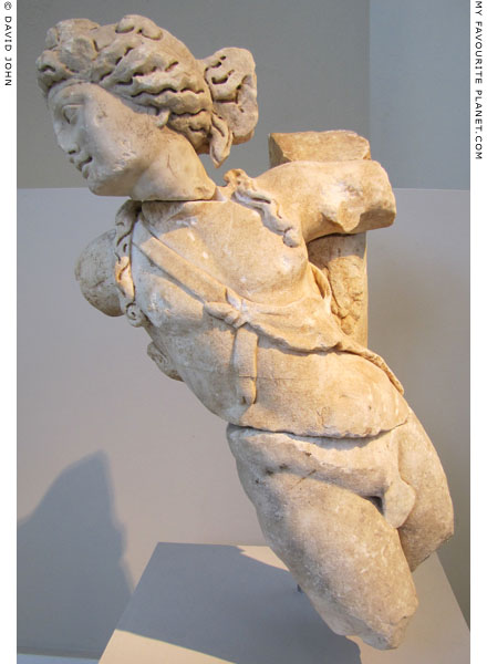 Trapezophoron depicting Dionysus from Thasos at My Favourite Planet
