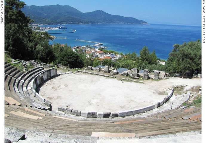 The ancient theatre on the acropolis of Thasos at My Favourite Planet