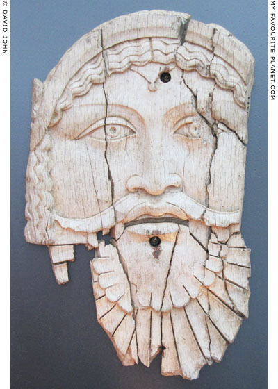 Ivory plaque with a mask of Dionysus from Saepinum at My Favourite Planet
