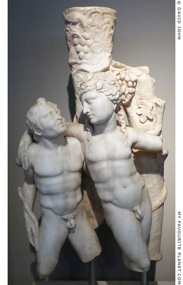 Drunken Dionysus supported by a satyr at My Favourite Planet
