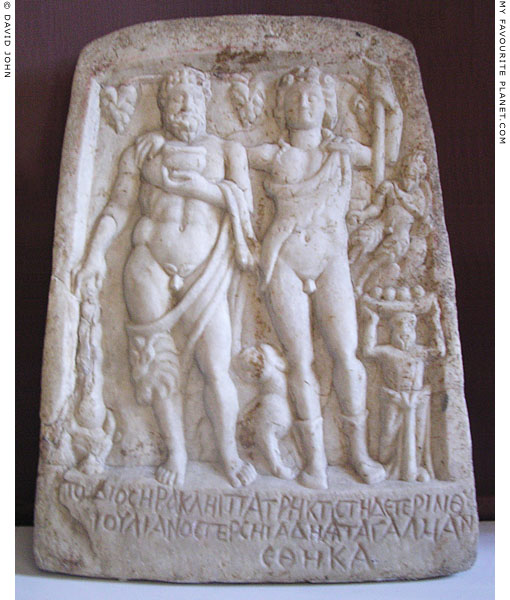 A relief of Herakles, Dionysus, Pan and a silen, Varna at My Favourite Planet