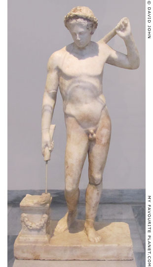 A marble statuette of a youth of the Ildefonso type at My Favourite Planet