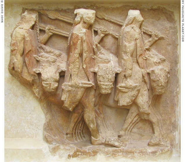 Relief of the Dioskouroi from the Sikyonian Treasury, Delphi, Greece at My Favourite Planet