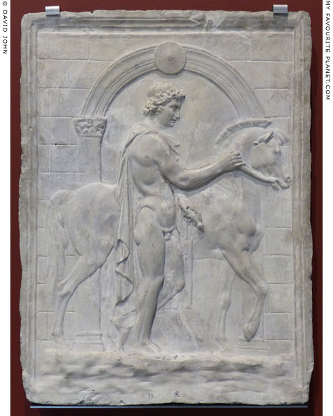 Relief on one of the Dioscuri with a horse in Dresden at My Favourite Planet