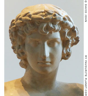 Head of Antinous from the San Ildefonso Group in Dresden at My Favourite Planet