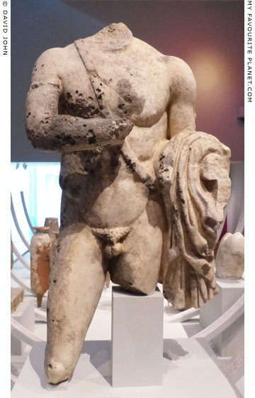 A marble statue of a warrior, perhaps one of the Dioskouroi at My Favourite Planet