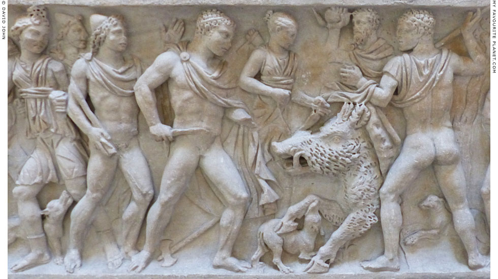 Meleager hunting the Kalydonian Boar, Ashmolean Museum, Oxford at My Favourite Planet
