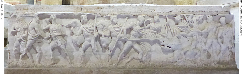 Relief of Castor and Pollux at the hunt of the Kalydonian Boar at My Favourite Planet