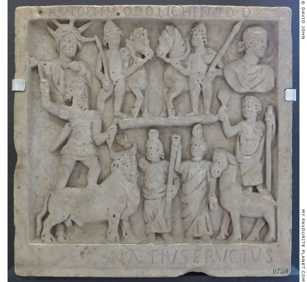 Marble relief of the Dioscuri among Roman gods at My Favourite Planet