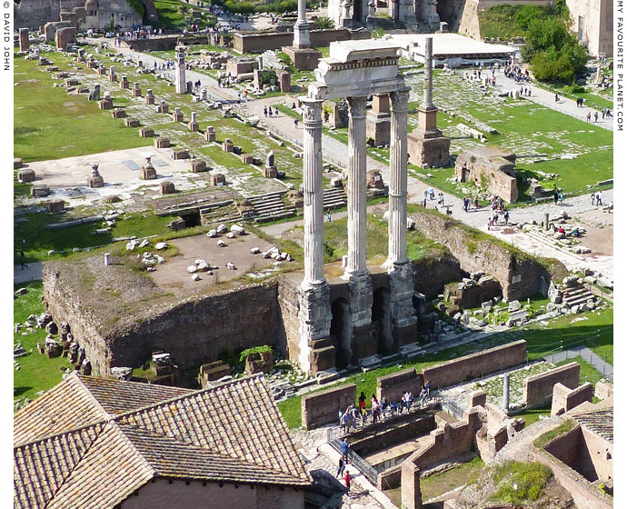 The Temple of the Dioscuri in the Roman Forum at My Favourite Planet