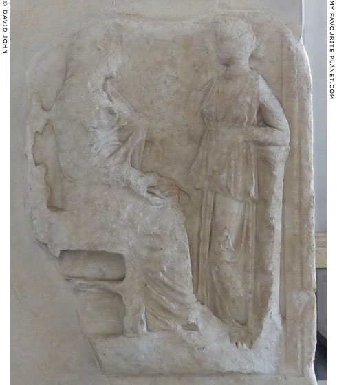 Relief of enthroned Leda with Helen of Troy at My Favourite Planet