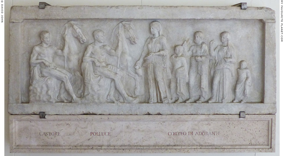 Votive relief with the Dioskouroi and worshippers at My Favourite Planet