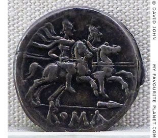 The Dioscuri on a Roman bronze coin at My Favourite Planet