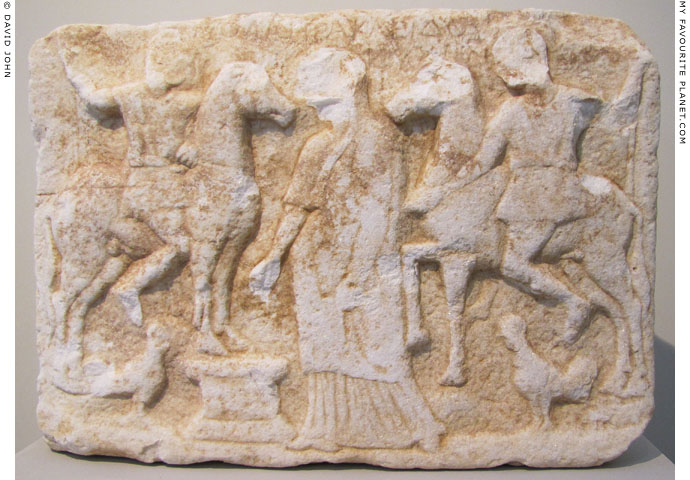 Votive relief of the Dioskouroi from Thasos at My Favourite Planet