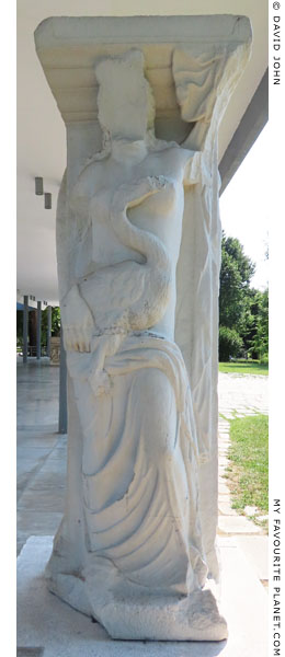 A replica of a relief of Leda and the swan from Las Incantadas, Thessaloniki at My Favourite Planet