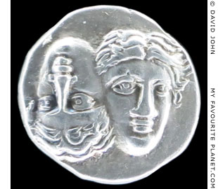 The Dioskouri on a silver drachm from Istros at My Favourite Planet