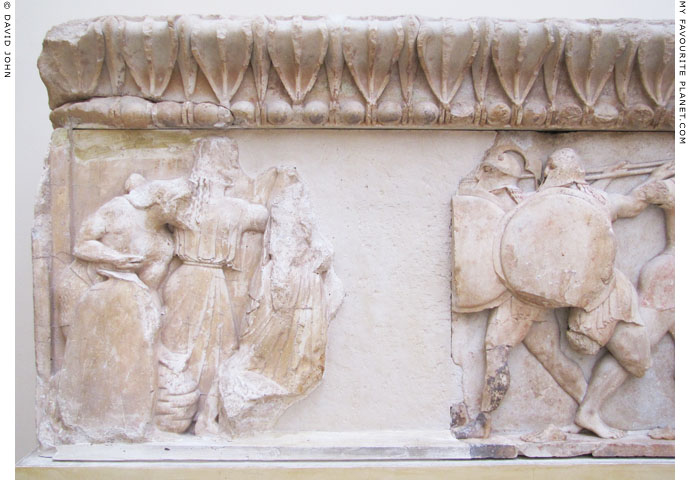 Hephaistos on the north frieze of the Siphnian Treasury, Delphi at My Favourite Planet