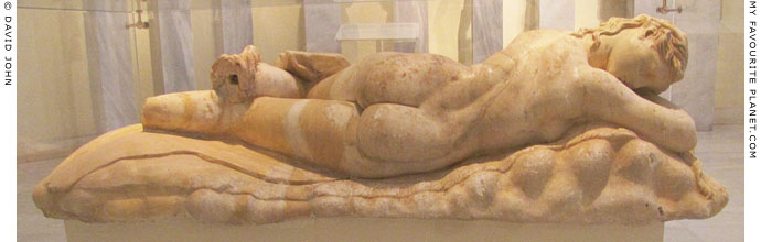 Statue of a sleeping maenad in Athens at My Favourite Planet