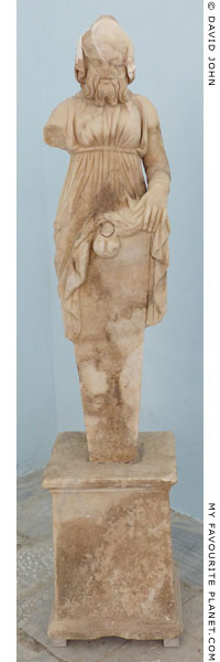 Marble herm of Hermaphroditus-Priapus in Delos at My Favourite Planet
