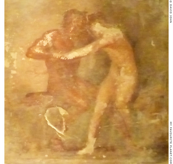 Fresco with Hermaphroditus and a satyr from Herculaneum at My Favourite Planet