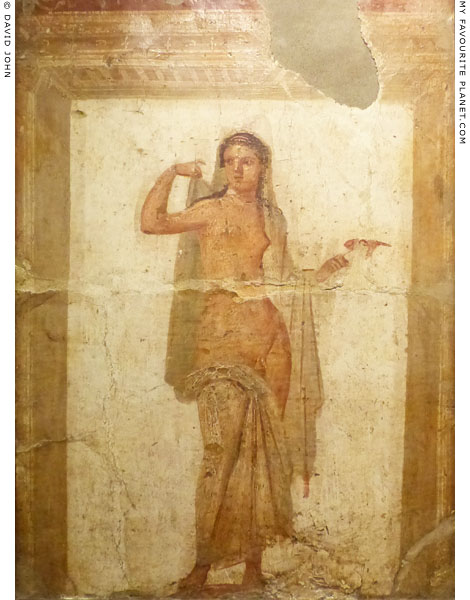 A fresco painting of Hermaphroditus from Herculaneum at My Favourite Planet